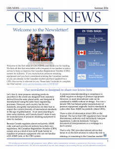 CRN NEWS Summer 2016 issue